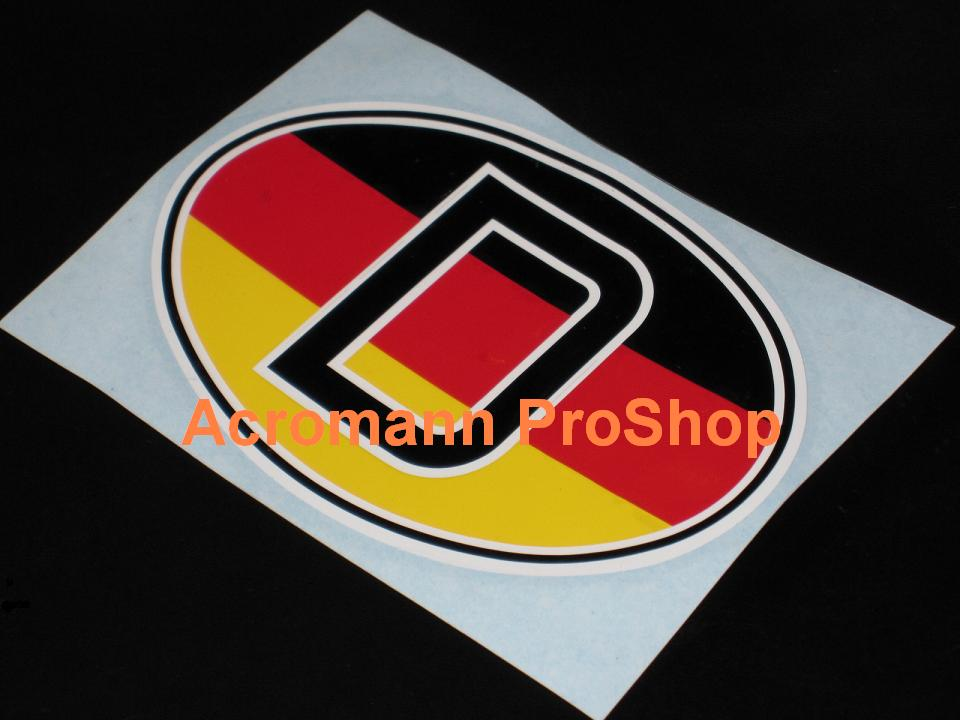 "Germany Oval ""D"" 5.25inch decal (Style#2) x 1 pc"